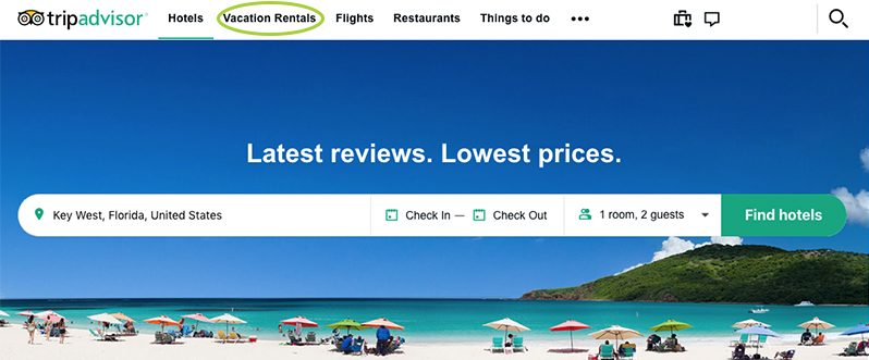 TripAdvisor Home Page - Search for Hotels and Vacation Rentals