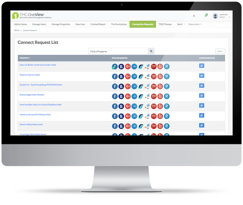 TMG OneView Enterprise Dashboard