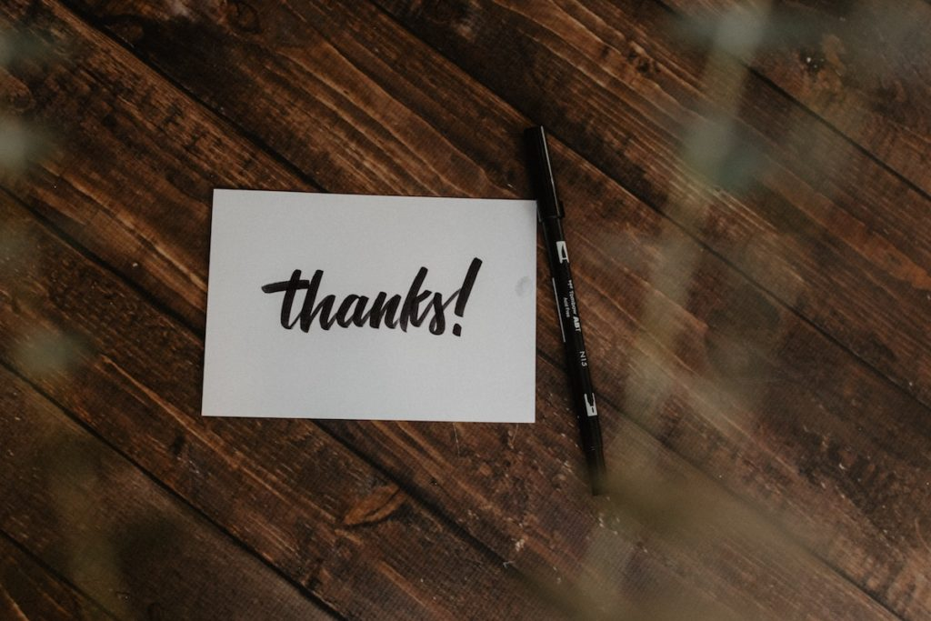 Handwritten Thank You Note