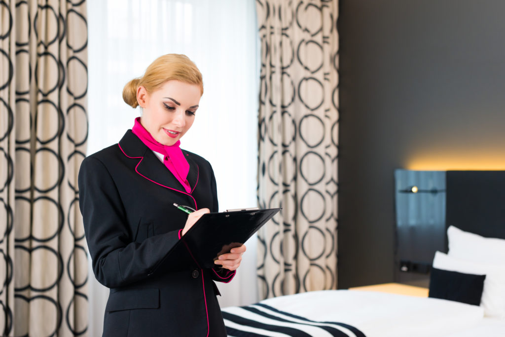 Hotel Manager Reviewing Checklist